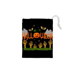Halloween Drawstring Pouches (xs)  by Valentinaart