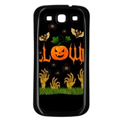Halloween Samsung Galaxy S3 Back Case (black) by Valentinaart