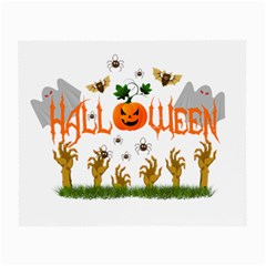Halloween Small Glasses Cloth (2 Side) by Valentinaart