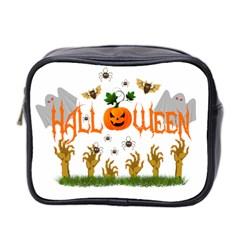 Halloween Mini Toiletries Bag 2 Side by Valentinaart