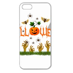 Halloween Apple Seamless Iphone 5 Case (clear) by Valentinaart