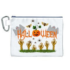 Halloween Canvas Cosmetic Bag (xl) by Valentinaart