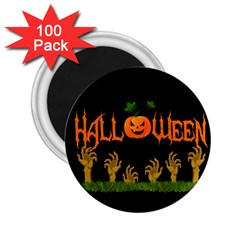 Halloween 2 25  Magnets (100 Pack)  by Valentinaart