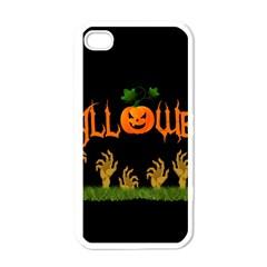 Halloween Apple Iphone 4 Case (white) by Valentinaart