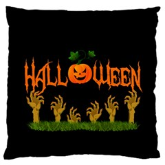 Halloween Large Flano Cushion Case (one Side) by Valentinaart