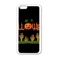 Halloween Apple Iphone 6/6s White Enamel Case by Valentinaart