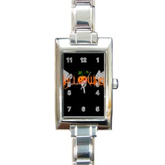Halloween Rectangle Italian Charm Watch by Valentinaart
