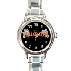 Halloween Round Italian Charm Watch by Valentinaart