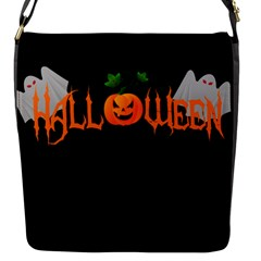 Halloween Flap Messenger Bag (s) by Valentinaart