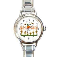 Halloween Round Italian Charm Watch by Valentinaart