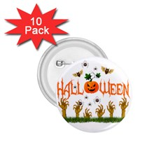 Halloween 1 75  Buttons (10 Pack) by Valentinaart
