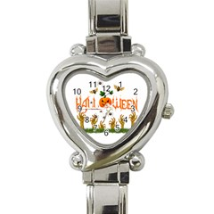 Halloween Heart Italian Charm Watch by Valentinaart