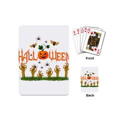 Halloween Playing Cards (mini)  by Valentinaart
