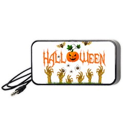 Halloween Portable Speaker (black) by Valentinaart