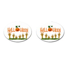 Halloween Cufflinks (oval) by Valentinaart