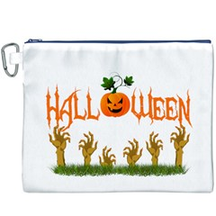 Halloween Canvas Cosmetic Bag (xxxl) by Valentinaart