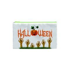 Halloween Cosmetic Bag (xs) by Valentinaart