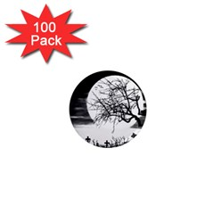 Halloween Landscape 1  Mini Magnets (100 Pack)  by Valentinaart