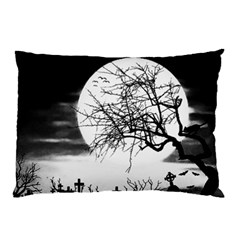 Halloween Landscape Pillow Case by Valentinaart