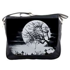 Halloween Landscape Messenger Bags by Valentinaart