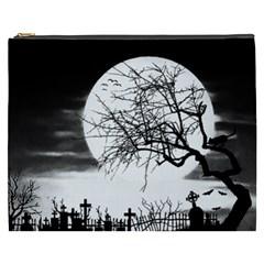 Halloween Landscape Cosmetic Bag (xxxl)  by Valentinaart