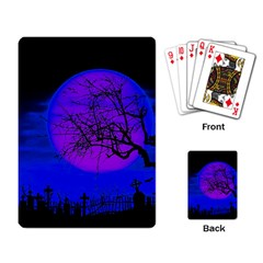 Halloween Landscape Playing Card by Valentinaart