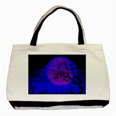 Halloween Landscape Basic Tote Bag (two Sides) by Valentinaart