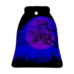 Halloween Landscape Bell Ornament (two Sides) by Valentinaart