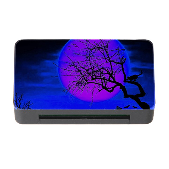 Halloween landscape Memory Card Reader with CF