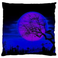 Halloween Landscape Standard Flano Cushion Case (two Sides) by Valentinaart
