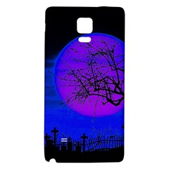Halloween Landscape Galaxy Note 4 Back Case by Valentinaart