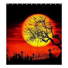 Halloween Landscape Shower Curtain 66  X 72  (large)  by Valentinaart