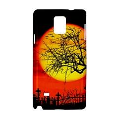 Halloween Landscape Samsung Galaxy Note 4 Hardshell Case by Valentinaart