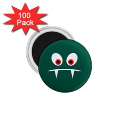 Angry Monster 1 75  Magnets (100 Pack)  by linceazul