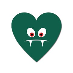 Angry Monster Heart Magnet by linceazul