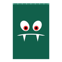 Angry Monster Shower Curtain 48  X 72  (small)  by linceazul