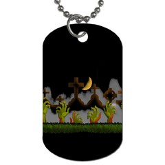 Halloween Zombie Hands Dog Tag (two Sides) by Valentinaart