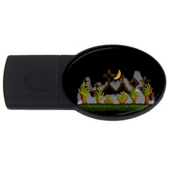 Halloween Zombie Hands Usb Flash Drive Oval (4 Gb) by Valentinaart