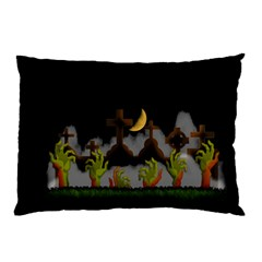 Halloween Zombie Hands Pillow Case by Valentinaart