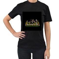 Halloween Zombie Hands Women s T Shirt (black) by Valentinaart