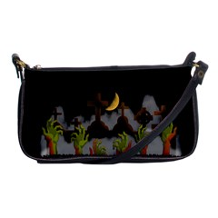 Halloween Zombie Hands Shoulder Clutch Bags by Valentinaart