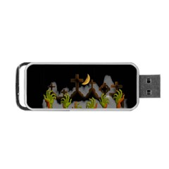 Halloween Zombie Hands Portable Usb Flash (one Side) by Valentinaart