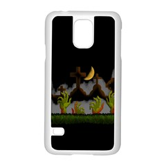 Halloween Zombie Hands Samsung Galaxy S5 Case (white) by Valentinaart