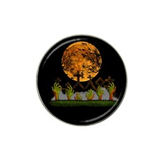 Halloween Zombie Hands Hat Clip Ball Marker by Valentinaart