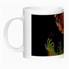 Halloween Zombie Hands Night Luminous Mugs by Valentinaart