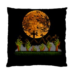 Halloween Zombie Hands Standard Cushion Case (one Side) by Valentinaart