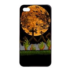 Halloween Zombie Hands Apple Iphone 4/4s Seamless Case (black) by Valentinaart