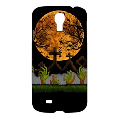 Halloween Zombie Hands Samsung Galaxy S4 I9500/i9505 Hardshell Case by Valentinaart
