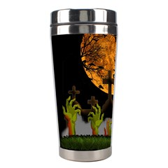 Halloween Zombie Hands Stainless Steel Travel Tumblers by Valentinaart