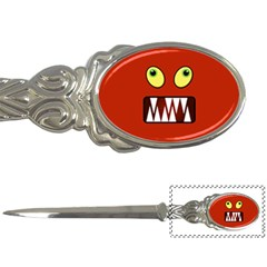 Funny Monster Face Letter Openers by linceazul